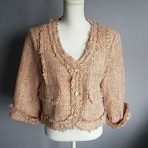 For Cynthia Fringed Tweed Jacket